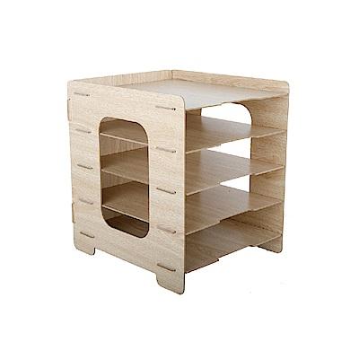 FL生活+ DIY木質五層文件收納盒(FL-068)