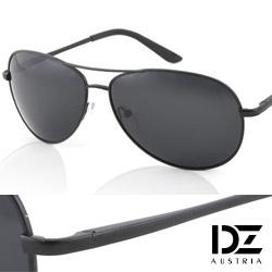 DZ 克雷孟特 抗UV 偏光 太陽眼鏡墨鏡(黑-酷黑框)