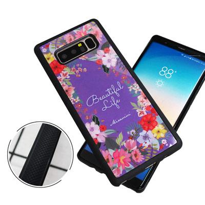 石墨黑系列 Samsung Galaxy Note 8 高質感側邊防滑手機殼(花...
