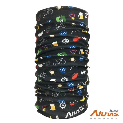 《Atunas 歐都納 Bike》抗UV多功能魔術頭巾 武嶺之路 HW1702