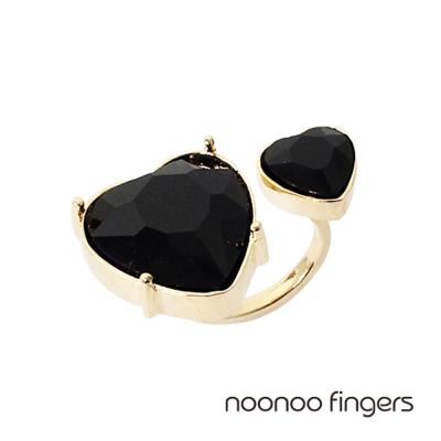 Noonoo Fingers Queen of Hearts 皇后的心和黑色愛心 戒指