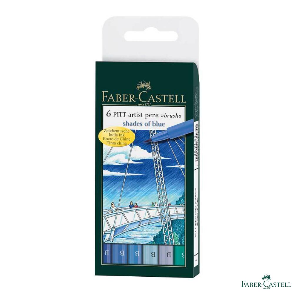 Faber-Castell PITT 藝術筆 藍色系(軟毛筆頭)