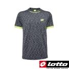 LOTTO 義大利-男 頂級網球T-SHIRT (黑灰)