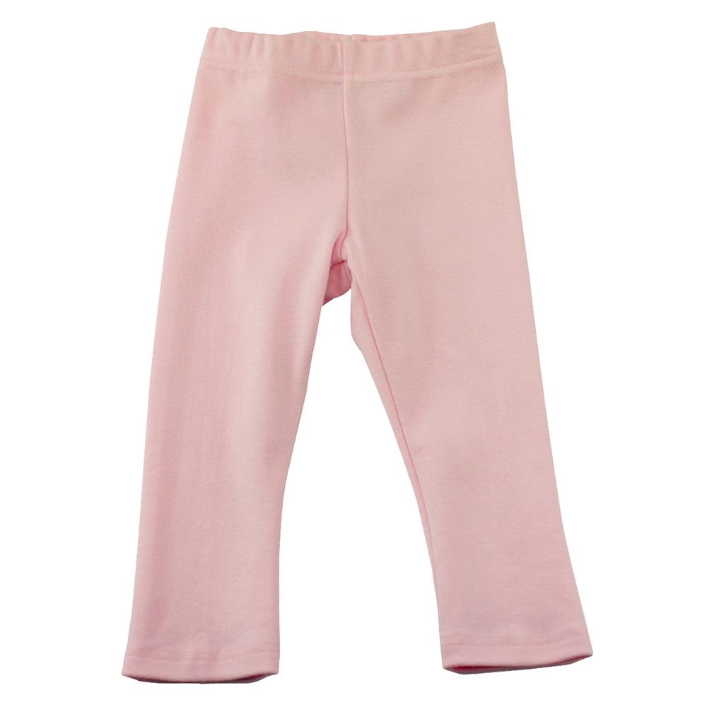 愛的世界 SUPERMINI 彈性鬆緊帶緊身長褲-粉紅/3~4歲