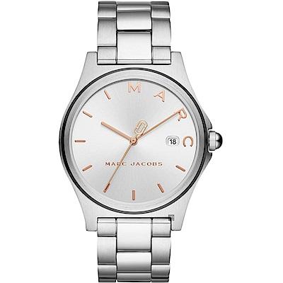 Marc Jacobs Henry 純粹時尚手錶-銀/36mm