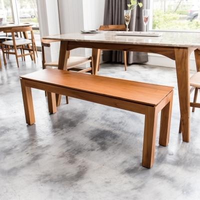 杰諾家居-吉佳利柚木實木椅-120x35.5x46cm