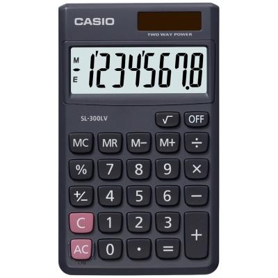 CASIO 卡西歐 (國家考試專用)8位數口袋摺疊輕巧型計算機SL-300LV .