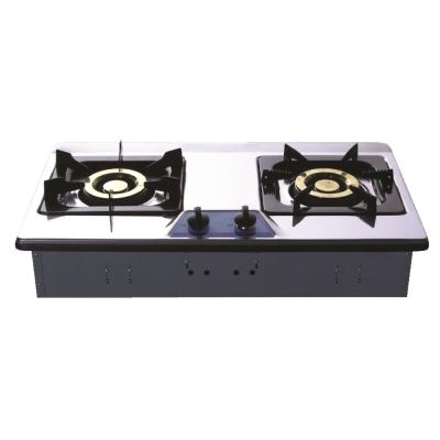 和成HCG 雙環銅合金爐蓋琺瑯爐架不鏽鋼檯面式二口瓦斯爐(GS203SQ)