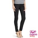 孕婦褲 長褲 孕期彈力色褲(黑色) Mamaway