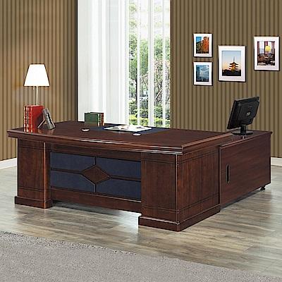 Bernice-克雷主管辦公桌組合(辦公桌+側邊櫃+活動櫃)-200x94x76cm