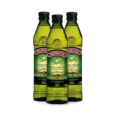 (即期品BORGES百格仕 買2送1 Arbequina阿爾貝吉納橄欖油(500ml/瓶)