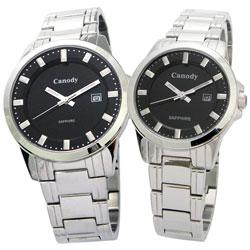 Canody 都會探索時尚對錶-黑