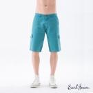 Earl Jean 洗舊多袋短褲-藍綠-男