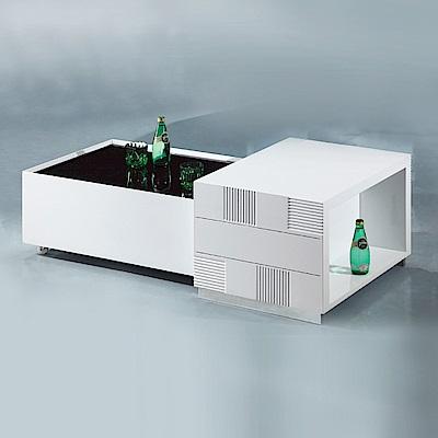 AS-偉茲白色伸縮大茶几-130x65x42cm