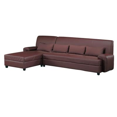 品家居 吉利皮革L型沙發(左右可選)-285x160x85cm-免組