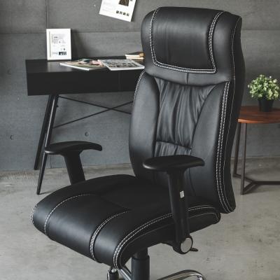 Home Feeling 高機能皮革包覆鐵腳電腦椅/辦公椅/董事長椅/高背