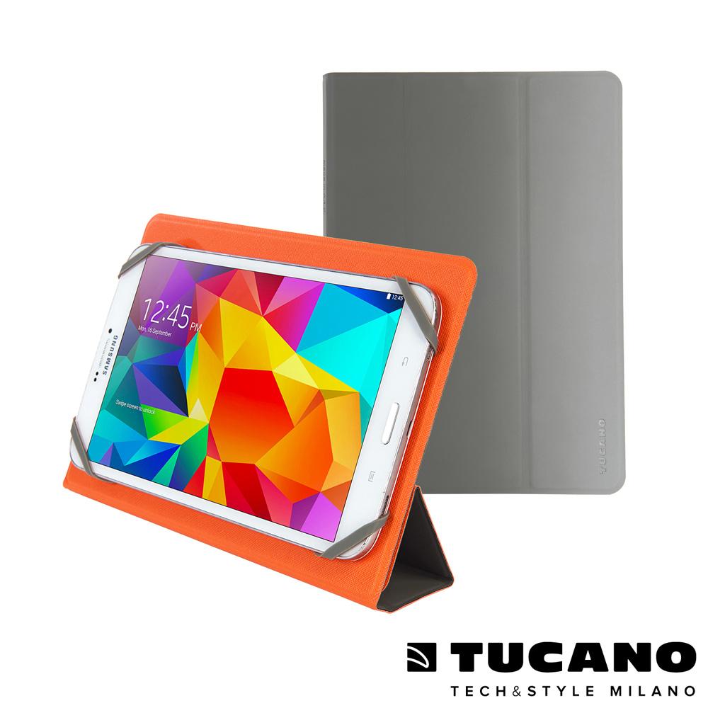 TUCANO Verso 9-10吋平板通用雙面可站立保護套- 橘/灰