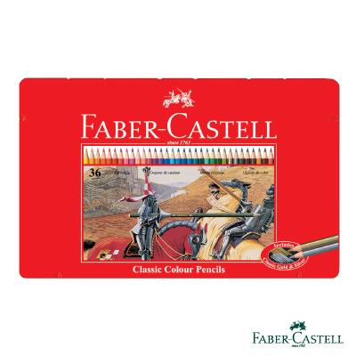 Faber-Castell紅色系油性彩色鉛筆-36色鐵盒裝