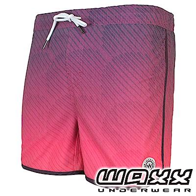 WAXX 經典系列快乾型男海灘褲(漸層紅色)(15英吋)