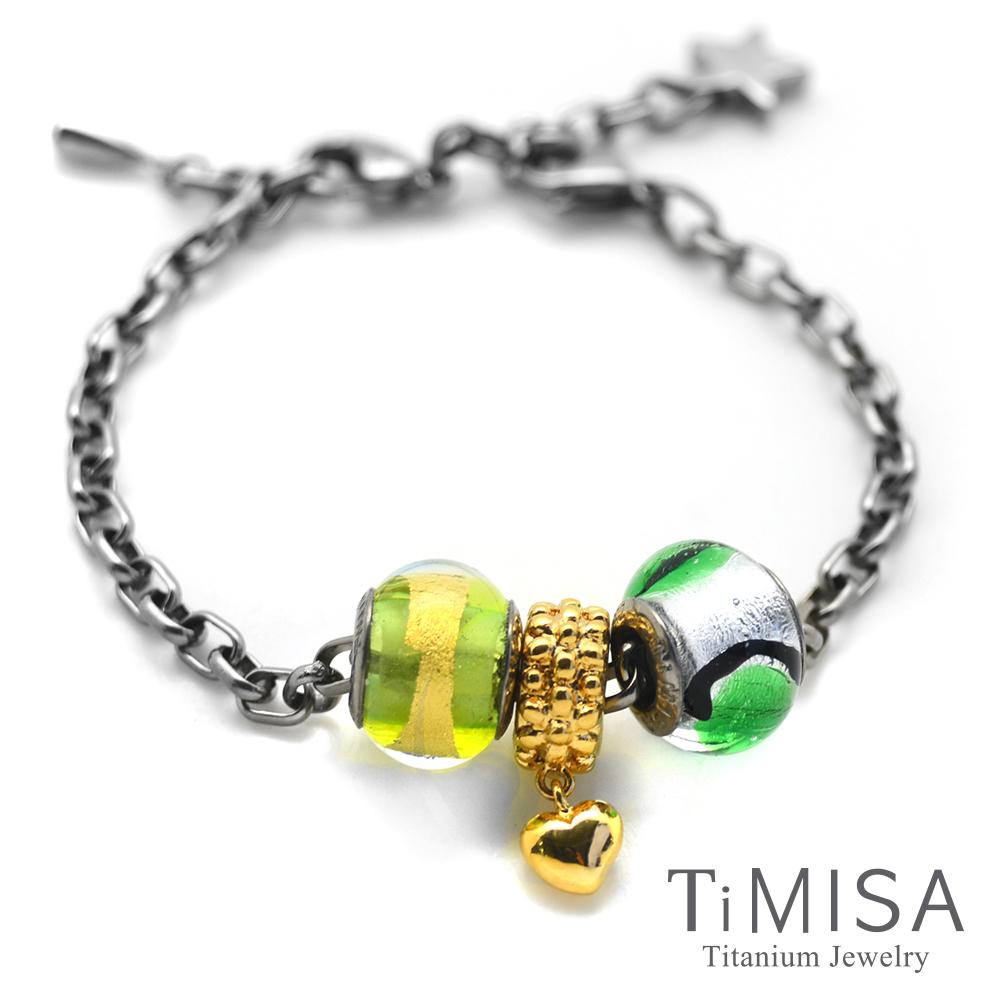TiMISA 點點心 金 純鈦串飾 手鍊