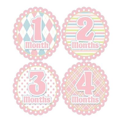 First-Year零歲寶寶成長記錄妙衣貼-溫柔菱格