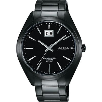 ALBA PRESTIGE 日系純粹時尚腕錶(AQ5147X1)-鍍黑/42mm