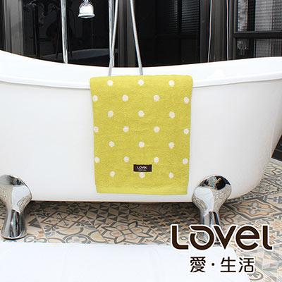 Lovel 專利咖啡紗除臭抗UV圓點浴巾(共4色)