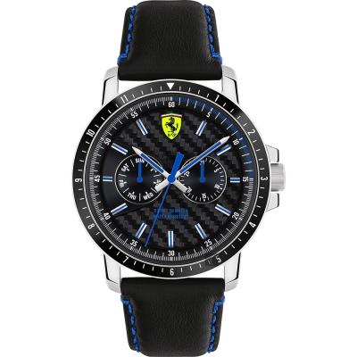 Scuderia Ferrari 法拉利 TURBO日曆手錶-黑/42mm