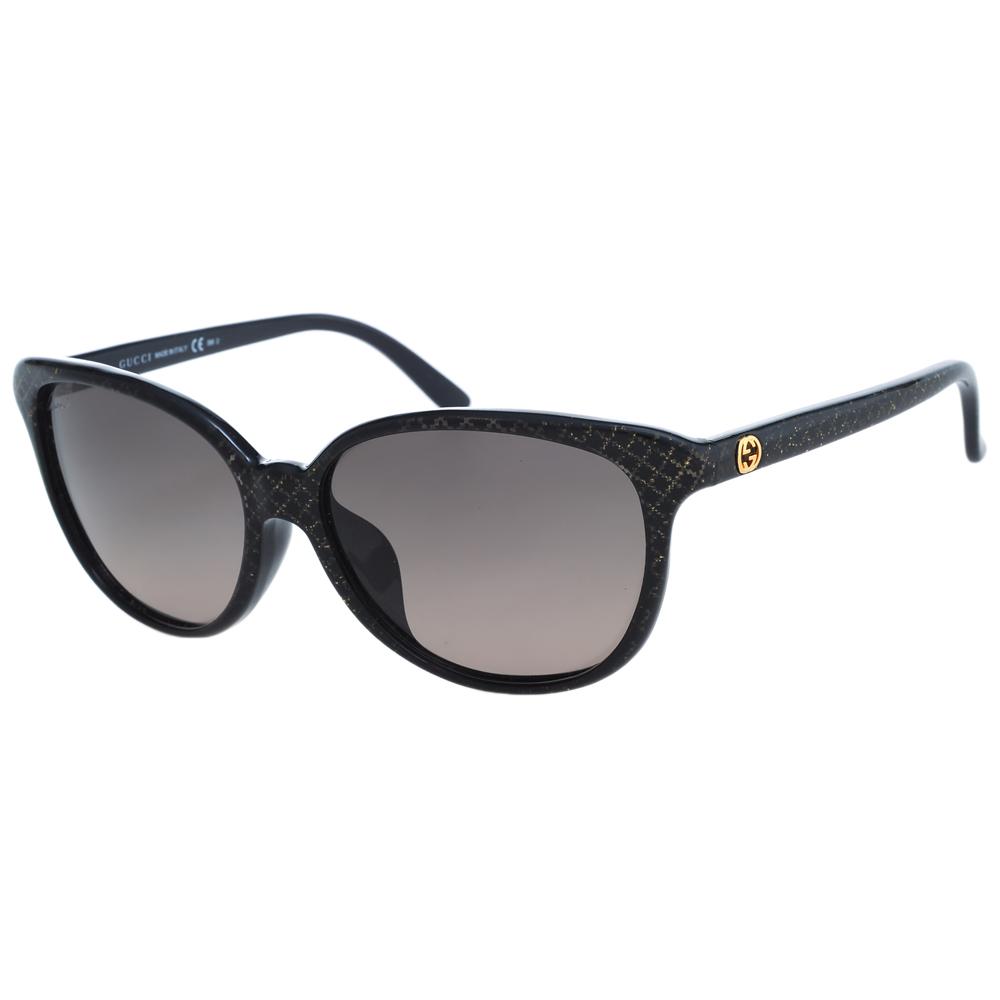 GUCCI-時尚太陽眼鏡(黑色/琥珀) @ Y!購物