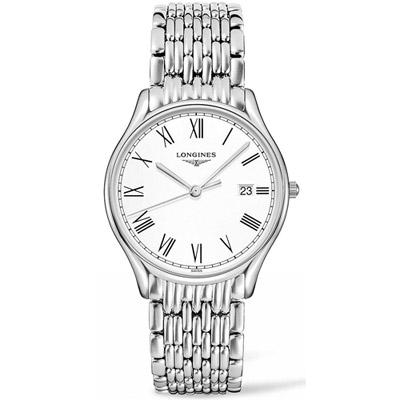 LONGINES-浪琴-律雅系列紳士時尚腕錶-銀色