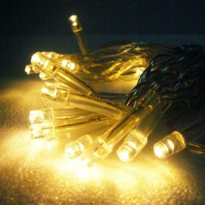 聖誕燈LED燈串20燈電池燈(暖白光/透明線)(高亮度又環保)