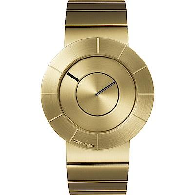 ISSEY MIYAKE 三宅一生TO系列 前衛金屬設計手錶NYAF001-金/38mm