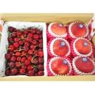 (鮮果日誌) 夏季黃金禮盒組(加州水蜜桃6入+美加櫻桃2.5台斤)