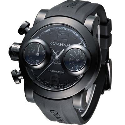 GRAHAM SWORDFISH BOOSTER BLACK 劍魚計時機械腕錶-47mm