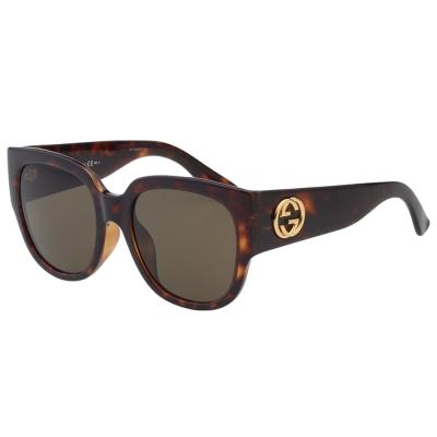 GUCCI 經典粗版 太陽眼鏡(琥珀色)