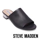 STEVE MADDEN-BRIELE-P-BLACK-粗低跟皮面拖-黑色