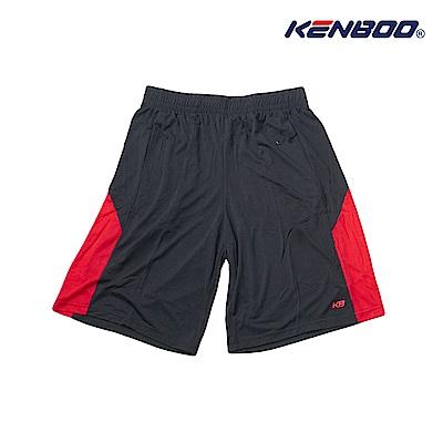 KENBOO吸排剪接籃球褲-黑色
