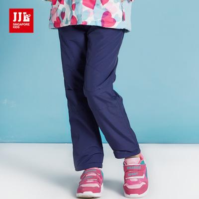 JJLKIDS 淘氣亮色內刷毛防風褲(藏青)