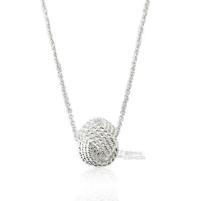 TIFFANY&Co. Twist Knot 永恆同心結墜飾925純銀項鍊