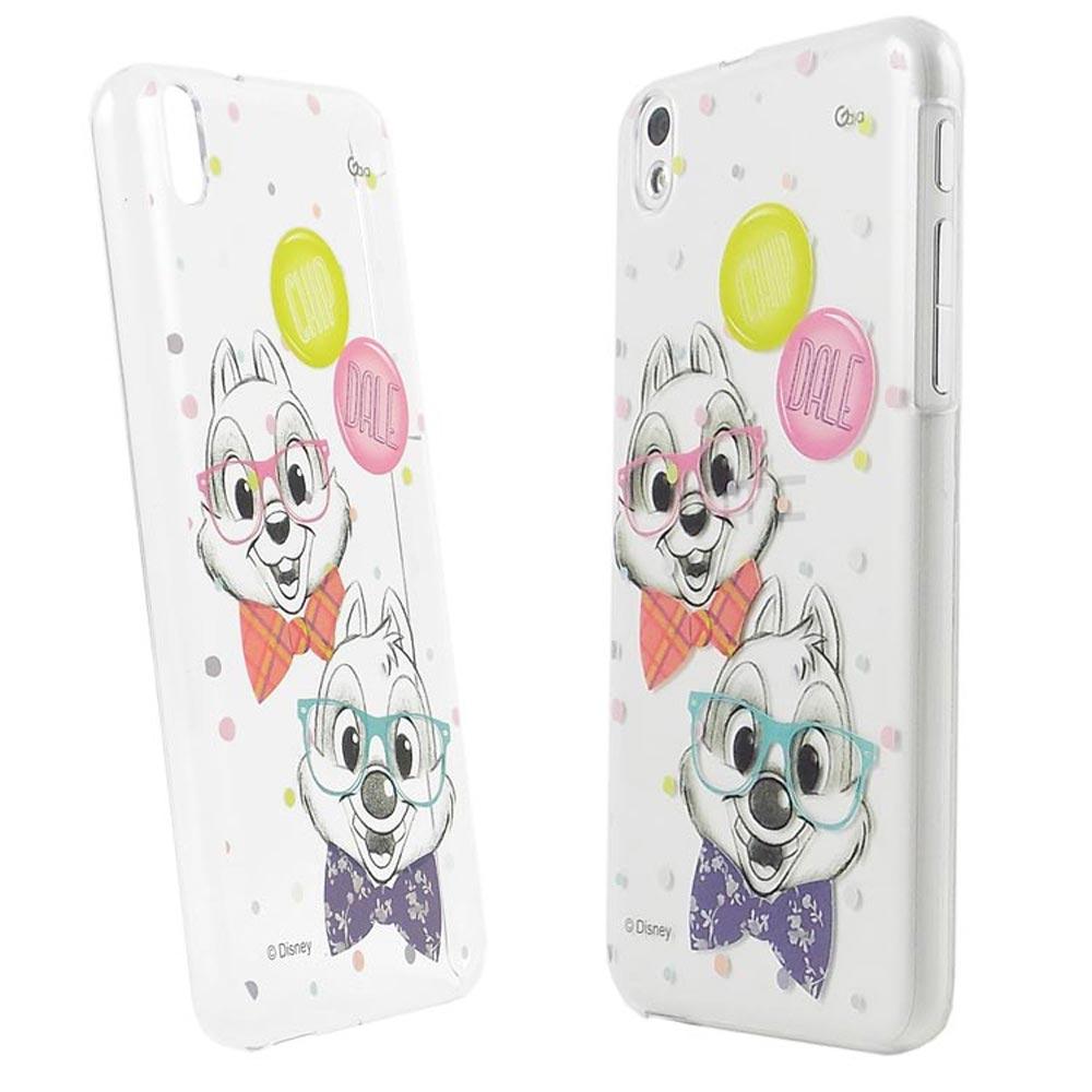 Disney HTC Desire 816彩繪手繪風透明保護殼-奇奇蒂蒂