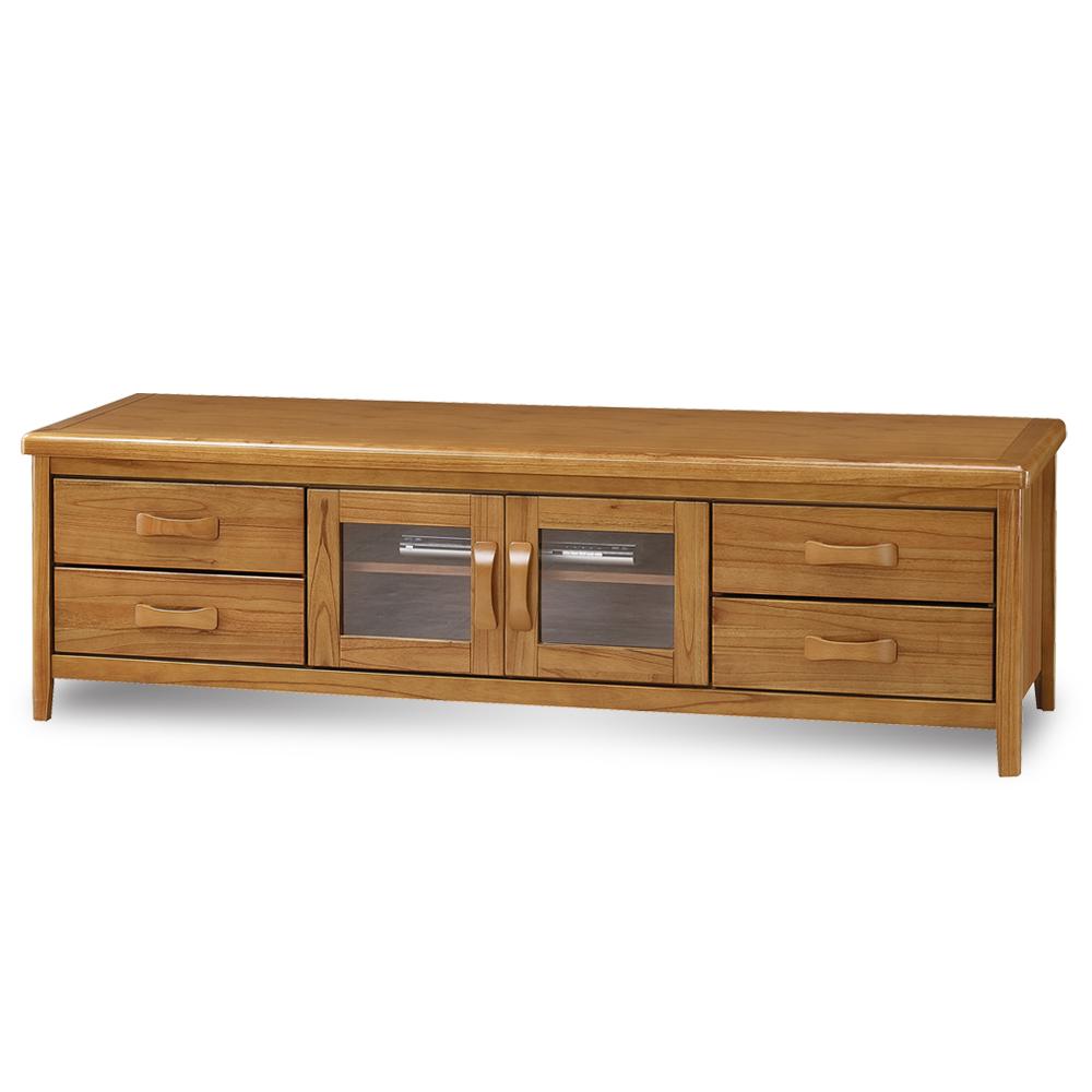 愛比家具 絲莉愛6尺柚木實木電視櫃