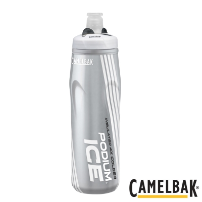 《CAMELBAK》ICE酷冰加大保冷噴射水瓶 雪白620ml(CB1302101062)
