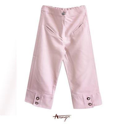 Anny甜美粉嫩造型雙鈕釦設計長褲*9422粉