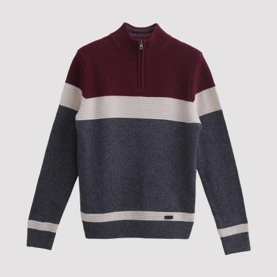 Hang Ten - 男裝 - 拉鍊立領混紡羊毛衣