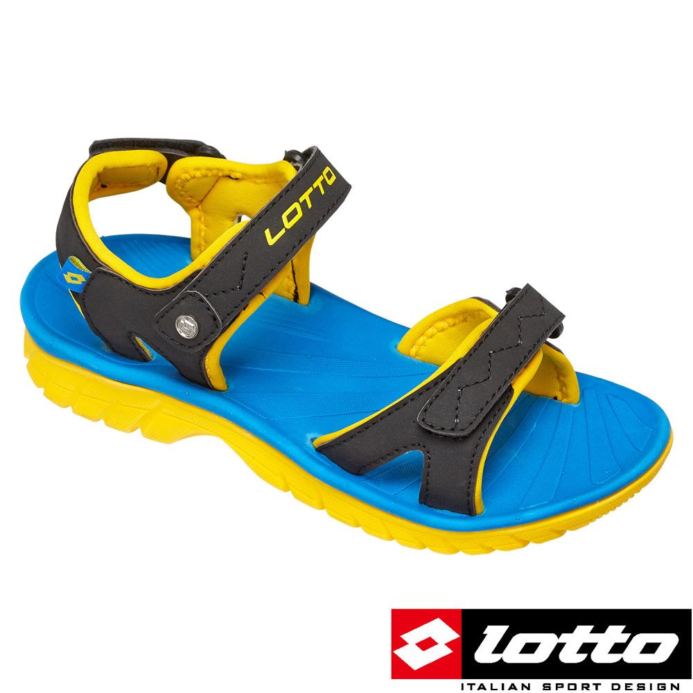 LOTTO 義大利- 超輕量運動涼鞋 (黑/黃)