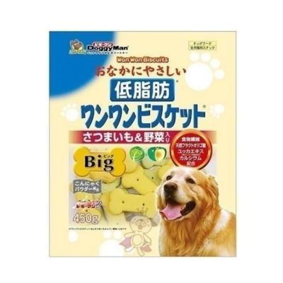 日本DoggyMan《低脂甜薯野菜消臭餅乾》450g