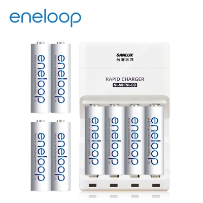 Panasonic eneloop低自放電充電組(3號8入+高效能充電器)