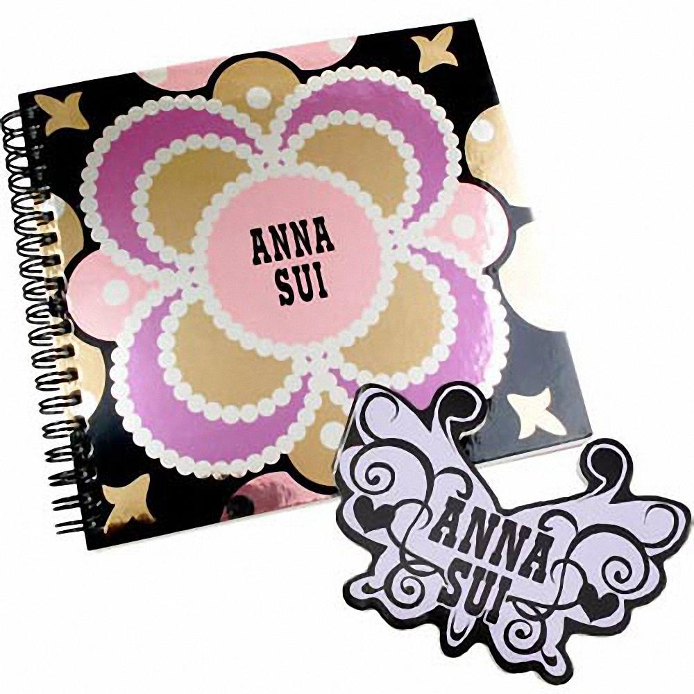 ANNA SUI 安娜蘇 幻境花園筆記本+彩蝶便條紙