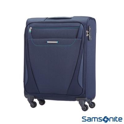 Samsonite新秀麗-20吋-Provo極致輕盈布面可擴充TSA登機箱-海軍藍