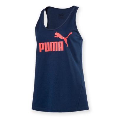 PUMA-女性基本系列No.1 Logo休閒背心-沉深藍-歐規
